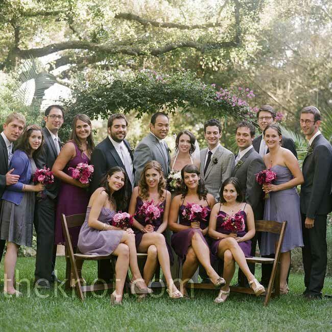 lilac bridesmaid and groom - 650×650