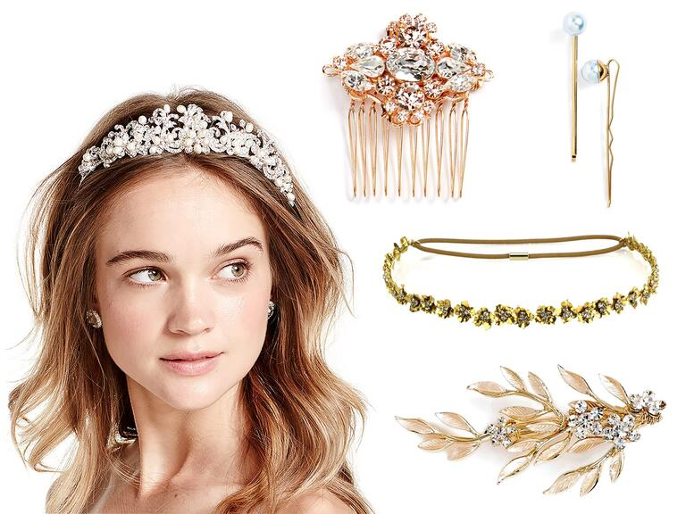 beach gold cheap vintage wedding and bridal hair accessories