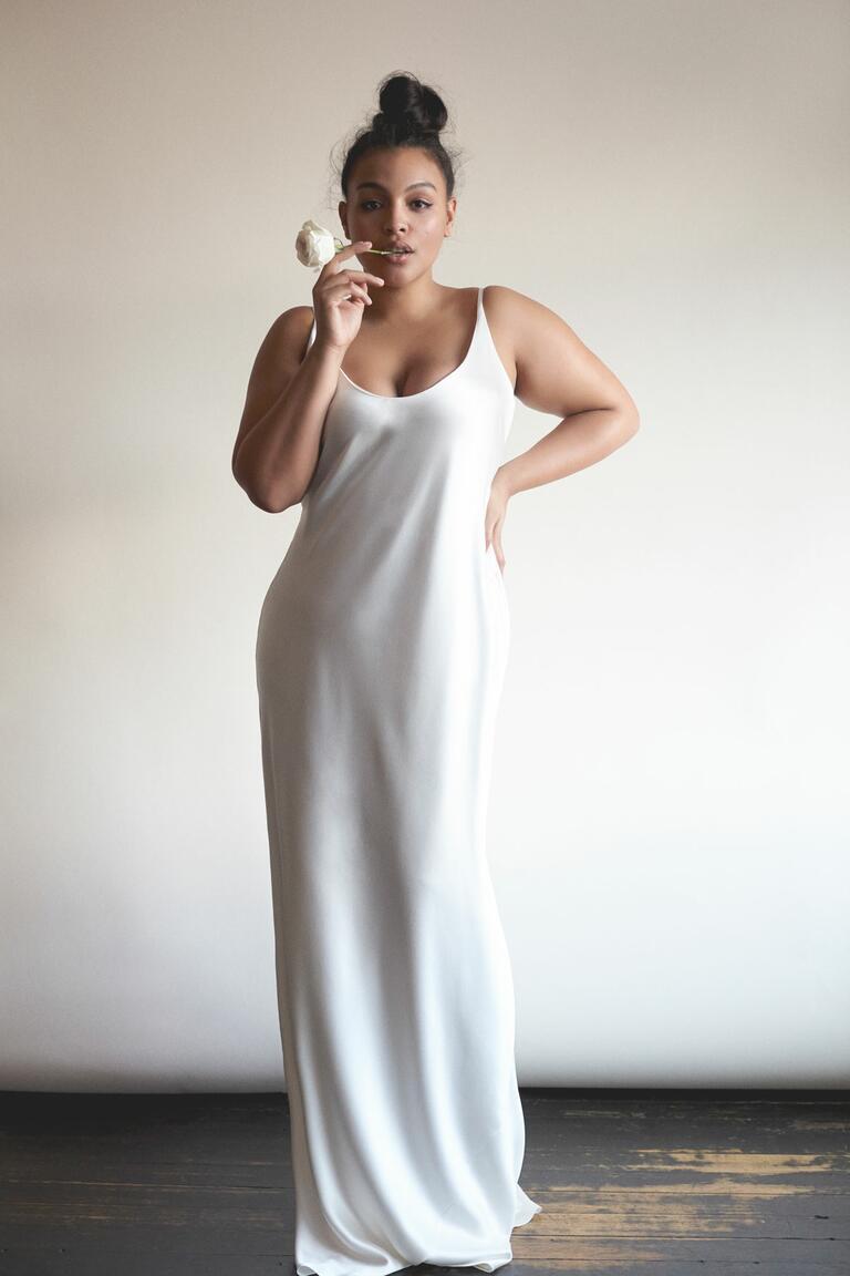 Wedding Wedding Dress Slips 20 gorgeous plus size wedding dresses silk slip dress