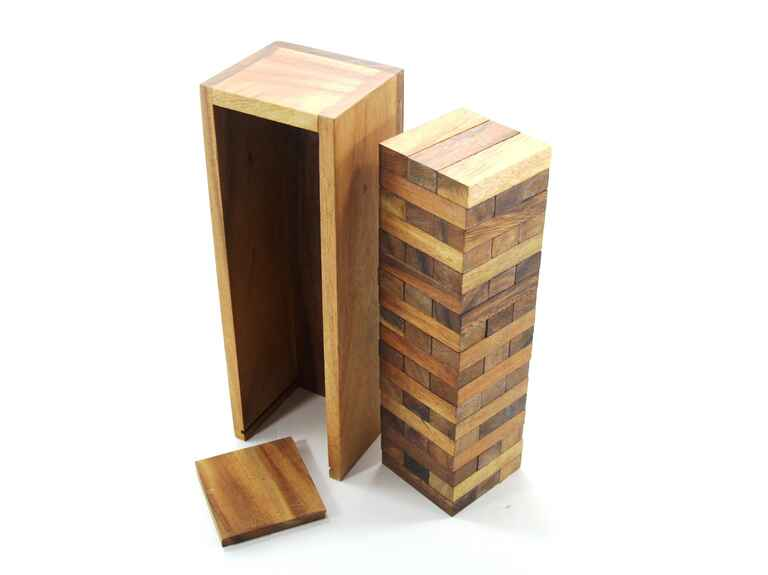 Wooden Jenga game set