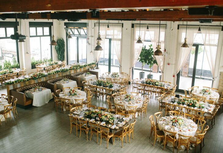 Rustic Restaurant Reception at Battello in Jersey City, New Jersey