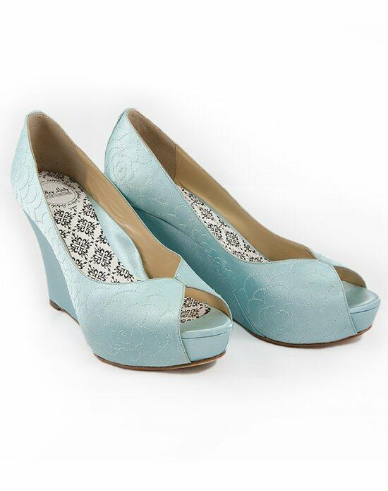 Hey Lady Shoes Lady Buttons garden wedge Wedding Shoes photo