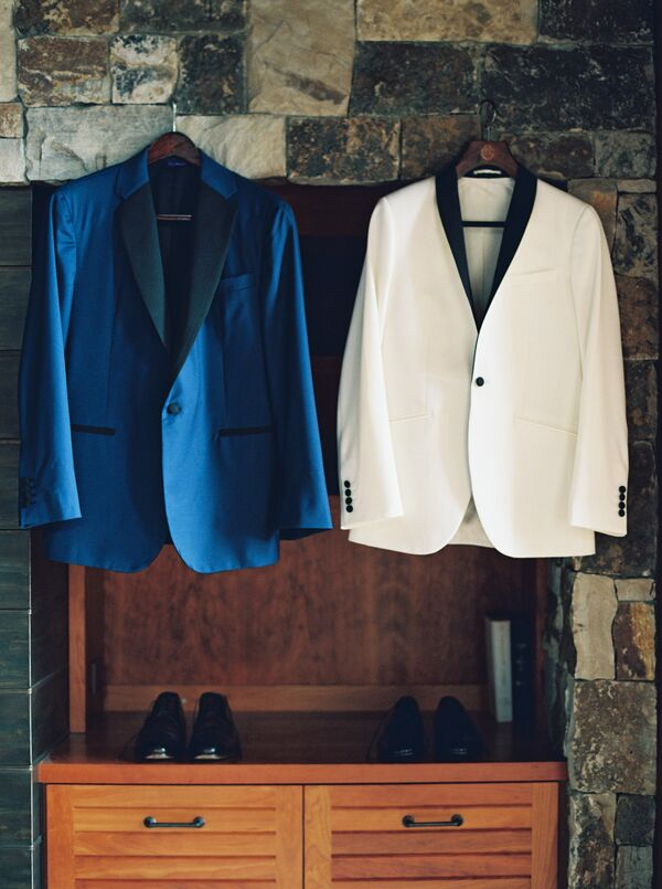 Custom Midnight Blue Tuxedo and Classic White Dinner Jacket