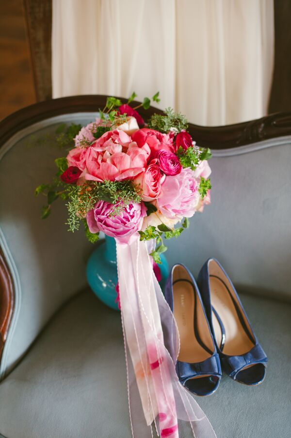 Pink Peony, Rose and Ranunculus Bouquet