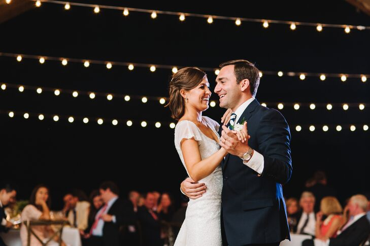 "Anna and Matt shared a sweet first dance to 'La Vie en Rose' by Edith Piaf. ""We knew that we wanted to dance to a classic, old, slow song,"" Anna says. ""I've always appreciated French culture and fell in love with the song when I was young."""