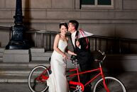 The Bride: Cindy Wang, 37, general manager and vice president of Wedding Paper Divas The Groom:  David Hung, 38, attorney The Date July 28  Cindy and