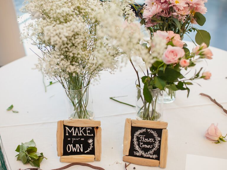 Wedding Shower Ideas Part - 27: How To Create A Fun Flower Crown Station At A Bridal Shower