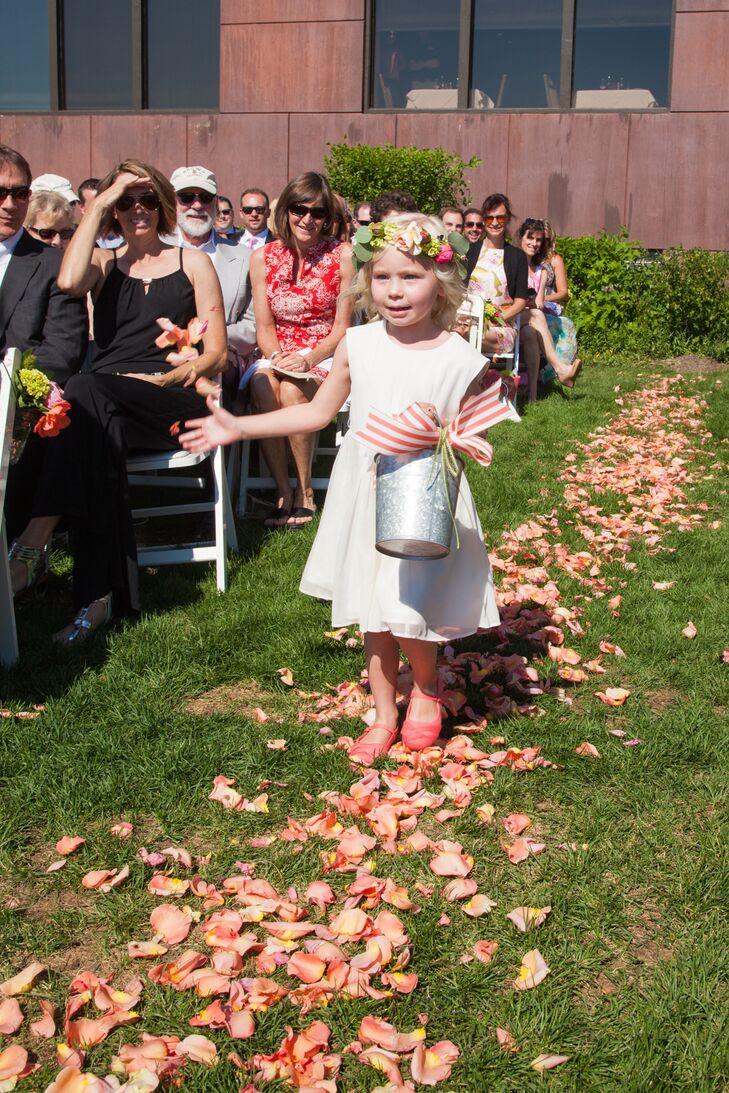 White J Crew Flower Girl Dress