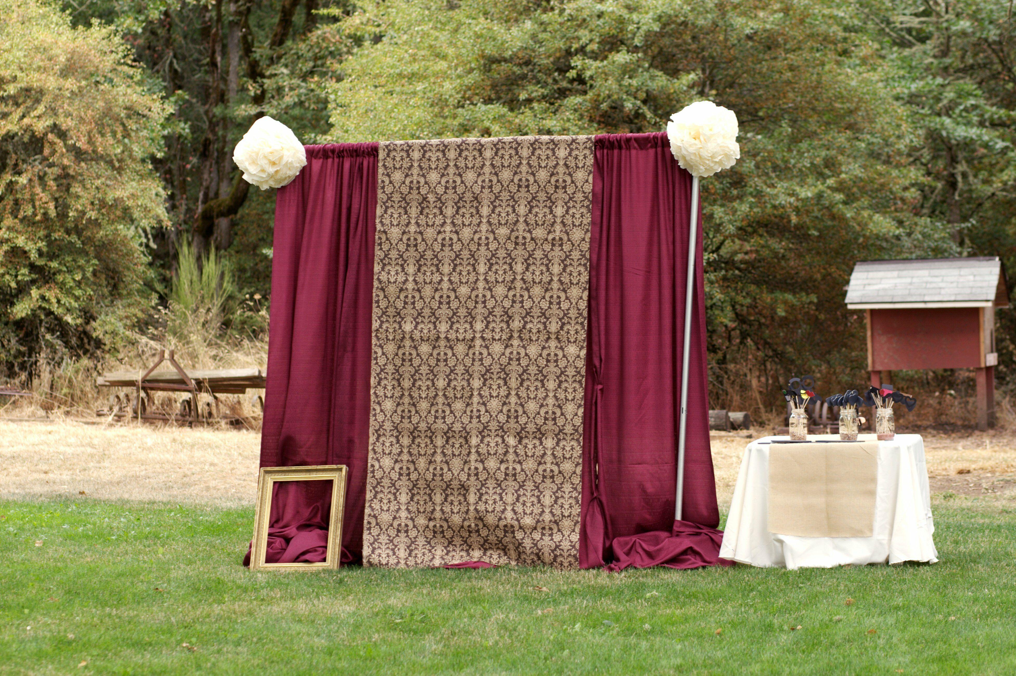 Burgundy Photobooth Backdrop