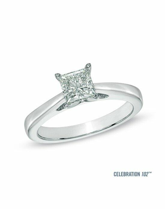 Celebration Diamond Collection at Zales Celebration 102® 1 CT. Princess-Cut Diamond Solitaire Engagement Ring in 18K White Gold (I/SI2)  20006688 Engagement Ring photo