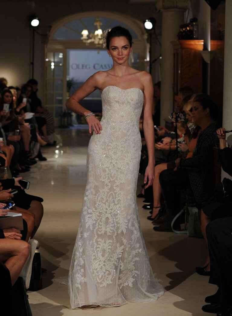 Oleg cassini fall 2016 collection bridal fashion week photos for Oleg cassini champagne wedding dress