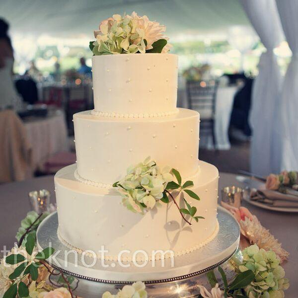 One Tier Cheesecake Wedding Cake
