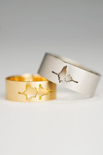 unique wedding bands for brides - Coolest Wedding Rings