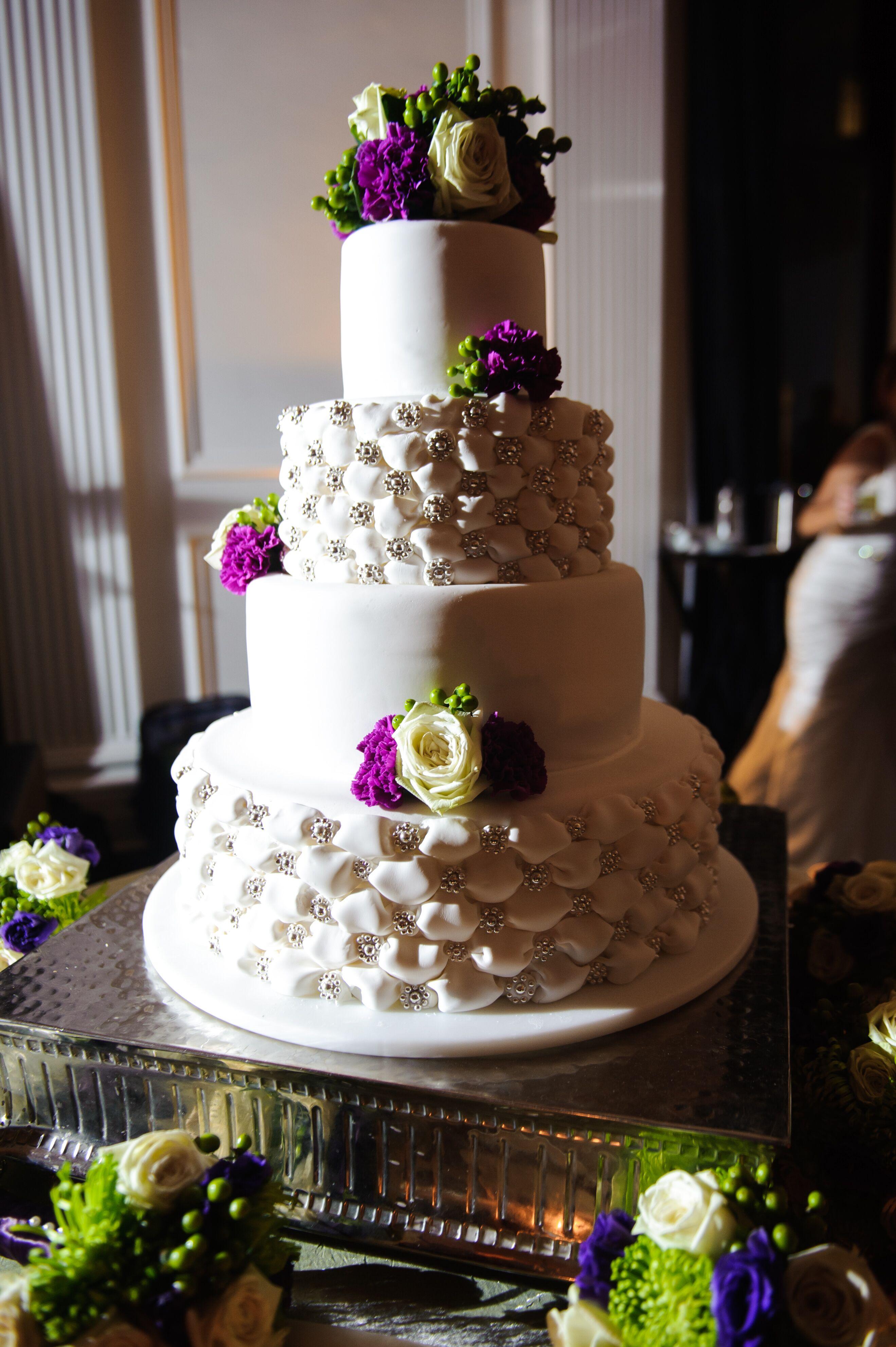 Ivory Four-Tier Wedding Cake