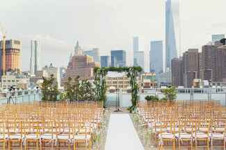 Wedding ceremony on the Tribeca Rooftop in New York City