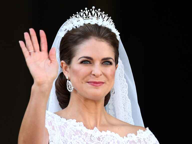 Princess Madeleine on her wedding day