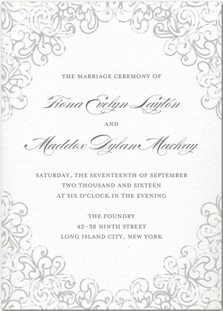 Wedding Programs - Wedding Program Wording