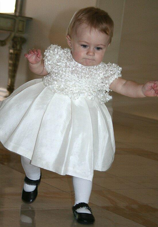 Isabel Garretón Short Sleeve Flutter Flower Girl Dress photo