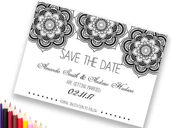 Coloring book save-the-date