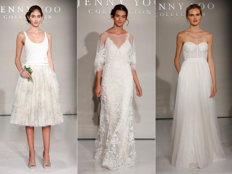 Accenti floreali in abiti da sposa di caduta 2016 di jenny yoo