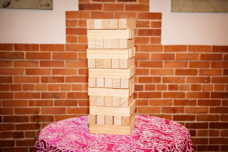 Lu and Greg followed the reception with an after-party, complete with a giant Jenga set and a ping-pong table.