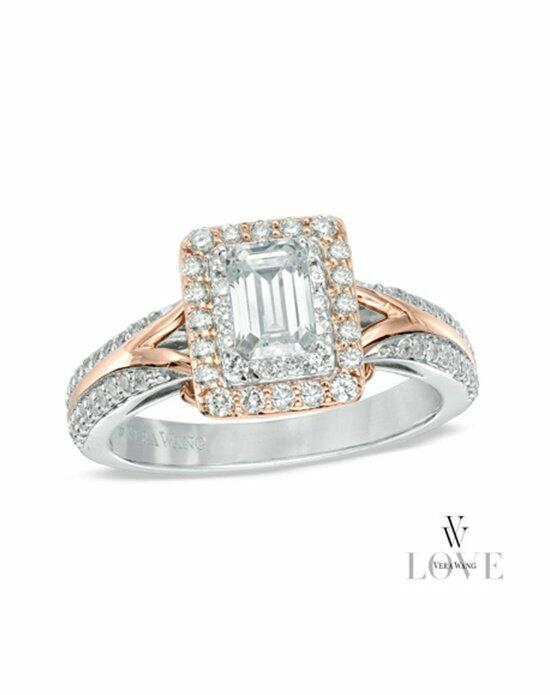 Vera Wang LOVE at Zales Vera Wang LOVE Collection 1 CT. T.W. Emerald-Cut Diamond Engagement Ring in 14K Two-Tone Gold  19862309 Engagement Ring photo