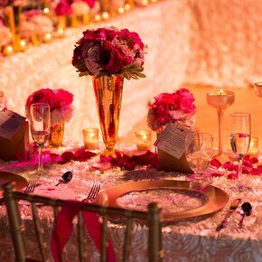Champagne Wedding Flower Arrangements