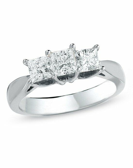 Celebration Diamond Collection at Zales Celebration 102® 1 CT. T.W. Princess-Cut Diamond Three Stone Engagement Ring in 18K White Gold (I/SI2)  18506873 Engagement Ring photo
