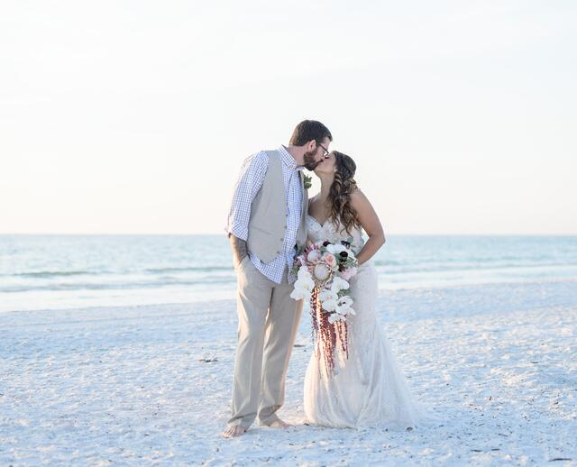 A Beach Themed Wedding At Marco Ocean Resort In Island Florida