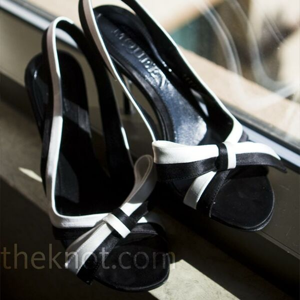 Black and White Bridal Shoes