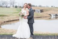 Sarah Heimbach (28 and an office manager) and Josh Keebler (28 and a gas-utility mechanic) kept their spring wedding simple and romantic. They chose a