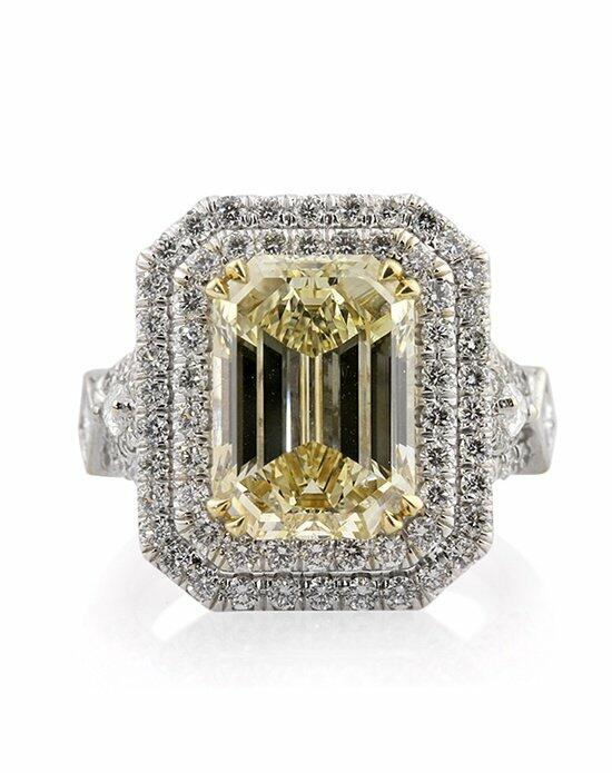 Mark Broumand 7.37ct Fancy Brownish Yellow Emerald Cut Diamond Engagement Anniversary Ring Engagement Ring photo