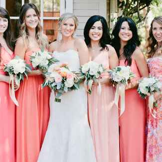 Living Coral Bridesmaid Dresses