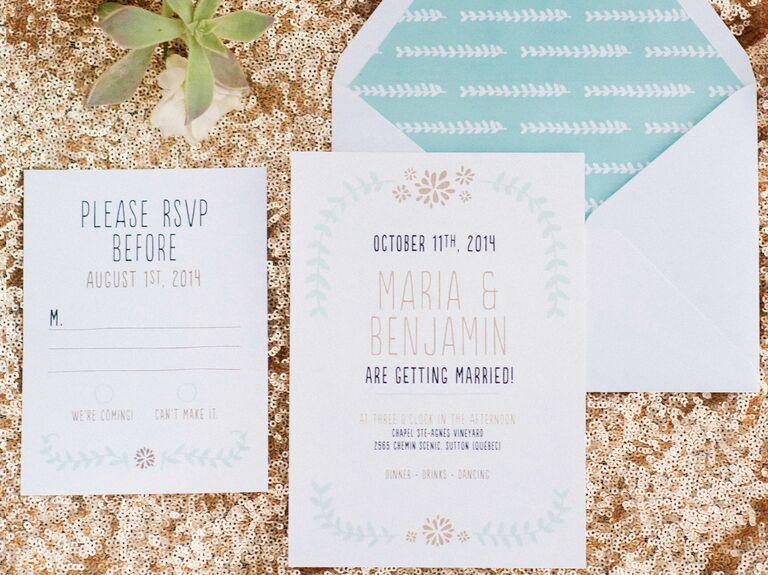 new ideas for modern wedding invitation wording - Modern Wedding Invites