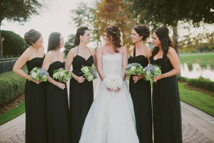 Real Bridesmaids In Our Stunning And Elegant Bridesmaid: Elegant Black Bridesmaid Dresses