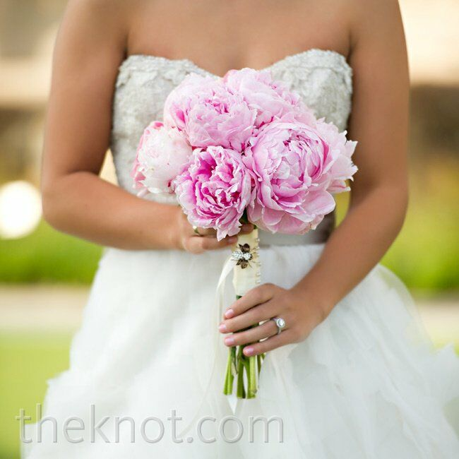 Peony Flower Bouquet Wedding: Pink Peony Bridal Bouquet