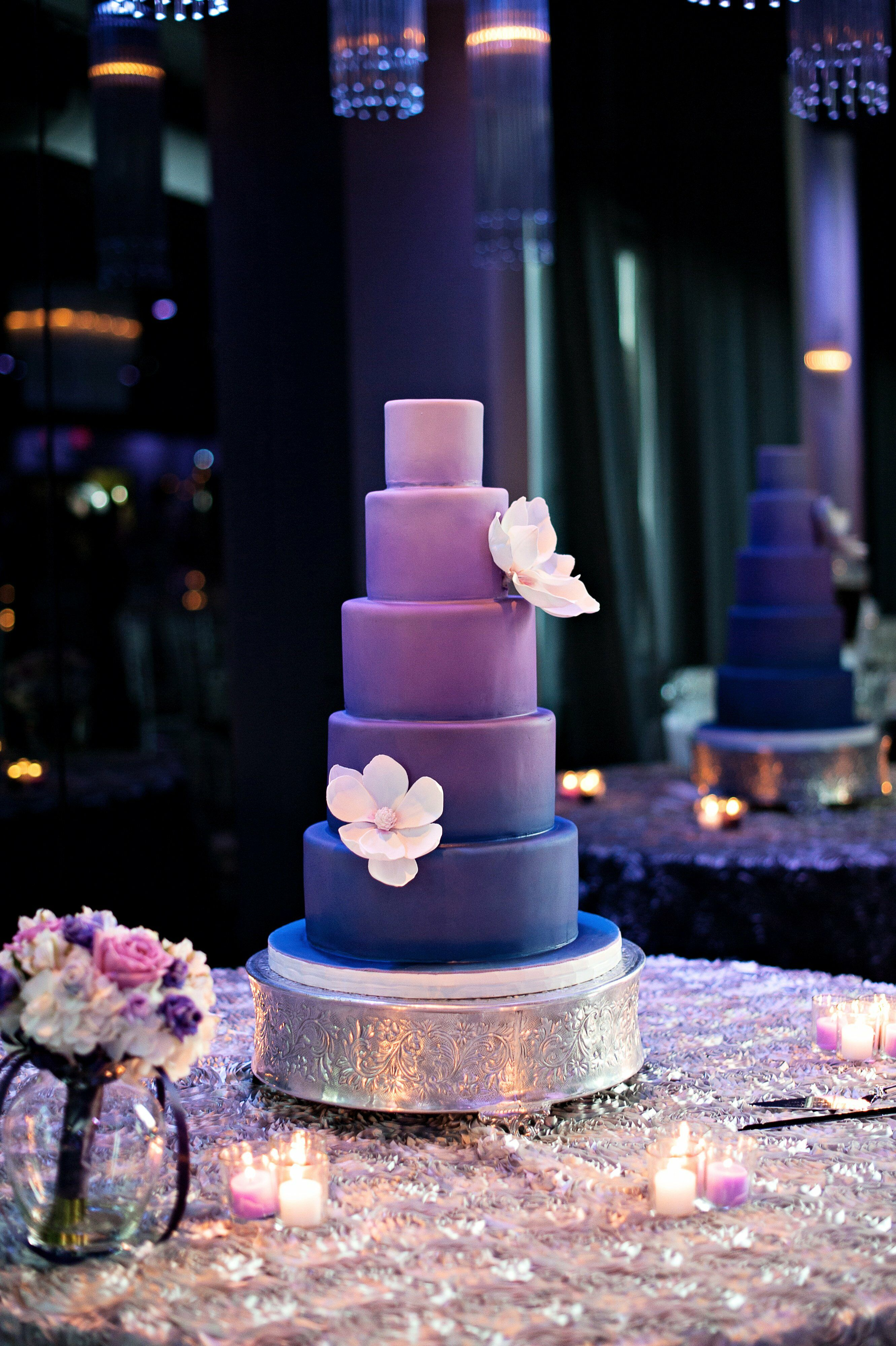 violet bakery wedding cakes pictures purple ombre wedding cake 21622