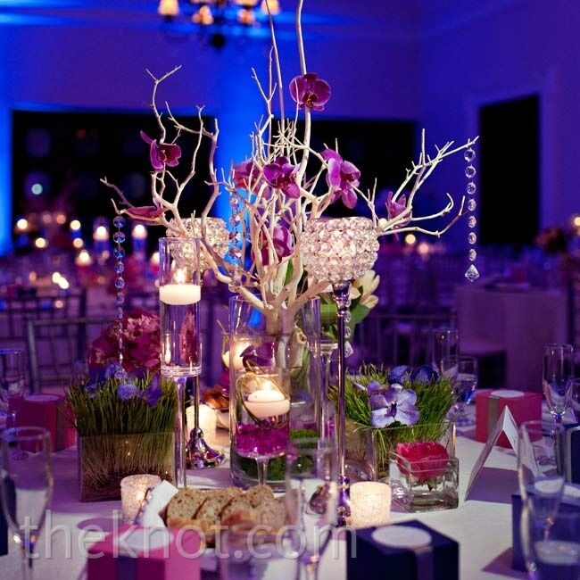 Wedding Head Table Decoration Ideas: Purple Head Table Décor
