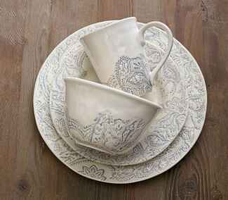 Pottery Barn Scarlett dinnerware wedding registry gift
