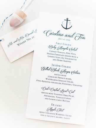 Beach wedding program idea