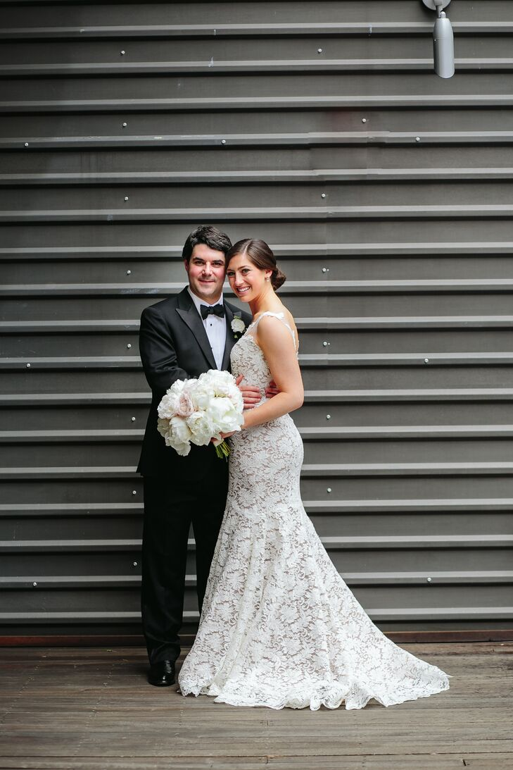 Bride and Groom at Brazos Hall in Austin, Texas