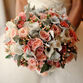 Vintage Pink Wedding Flower Arrangements