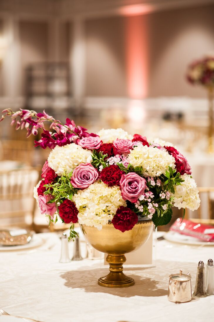 Gold bowl centerpieces