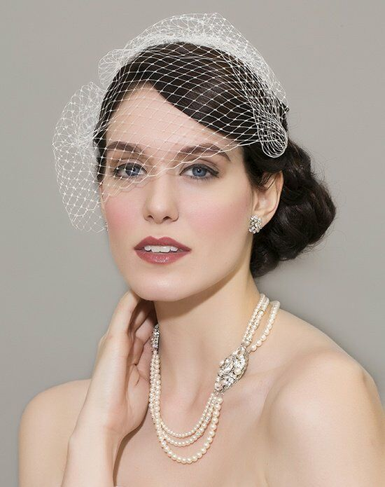 Laura Jayne Manon Face Veil Wedding Accessory photo