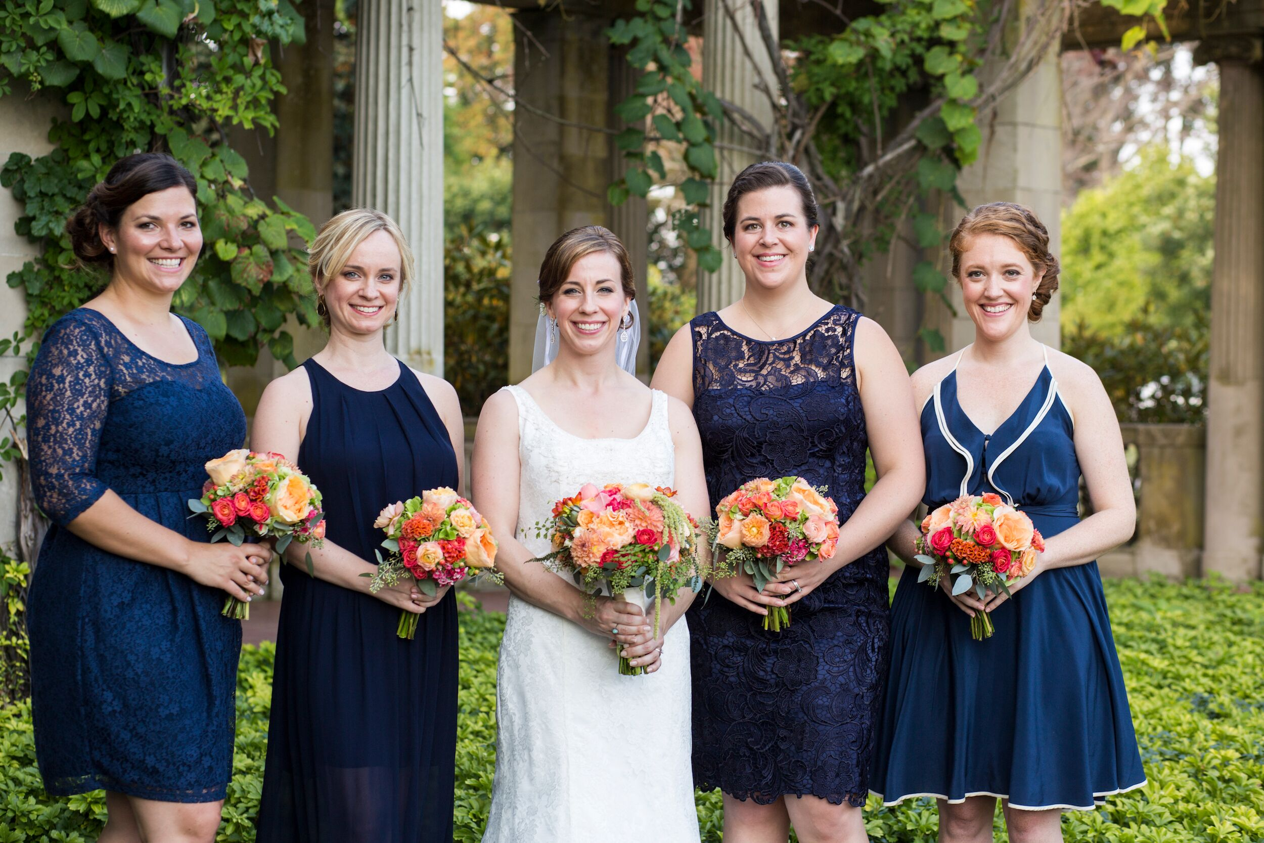 Waterford beach wedding location mismatched navy bridesmaid dresses ombrellifo Images
