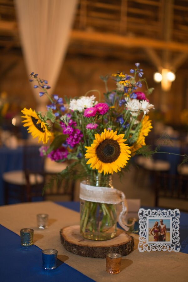 Rustic Sunflower Wedding Decorations Accents