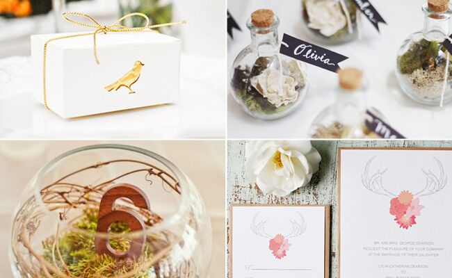 Woodland DIY Wedding Projects // Featured: The Knot Blog
