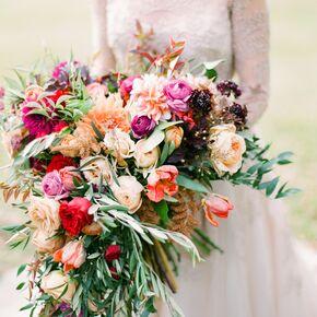 Orange Wedding Bouquets