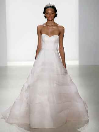 Kelly Faetanini Spring 2018 silk organza ball gown with horsehair horizontal detail