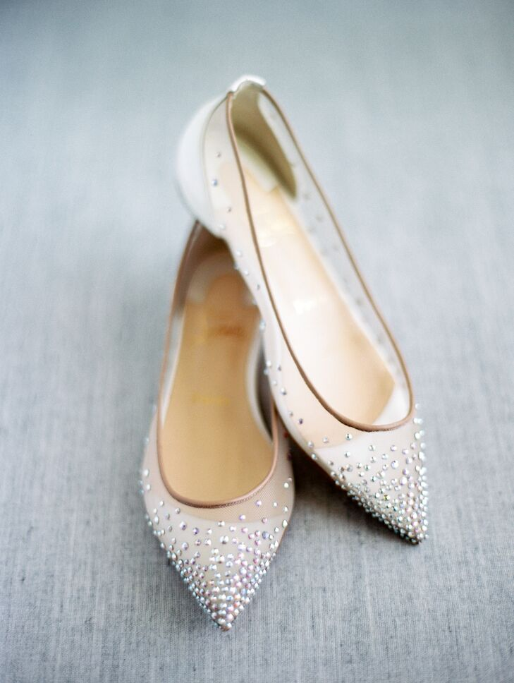 Crystal-Studded Illusion Jimmy Choo Flats